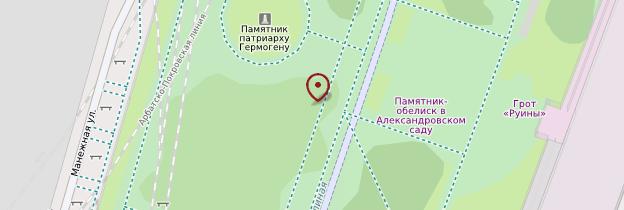 Carte Jardin d'Alexandre - Moscou