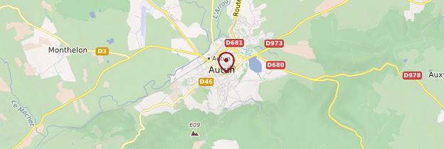 Carte Autun - Bourgogne