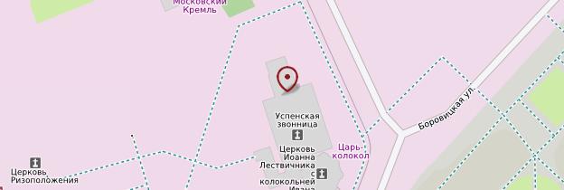 Carte Tsar Pouchka (Roi des Canons) - Moscou