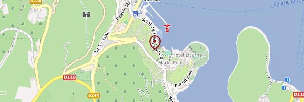 Carte Korčula (ville) - Croatie