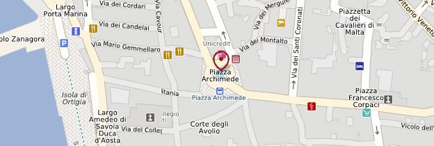 Carte Isola Ortigia - Sicile