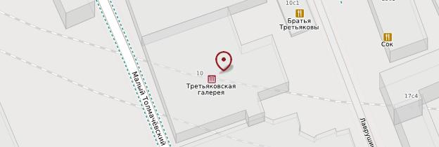 Carte Galerie Tretiakov - Moscou