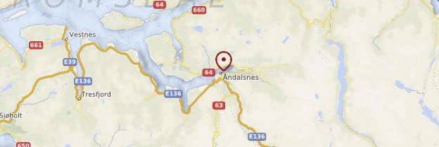 Carte Route des Trolls (Trollstigen) - Norvège