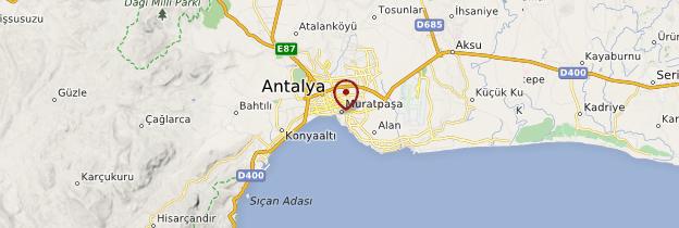 Carte Porte d'Hadrien d'Antalya - Turquie