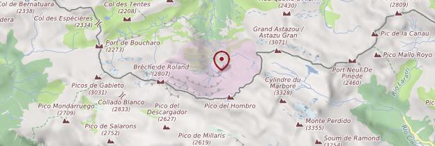 Carte Cirque de Gavarnie - Midi toulousain - Occitanie