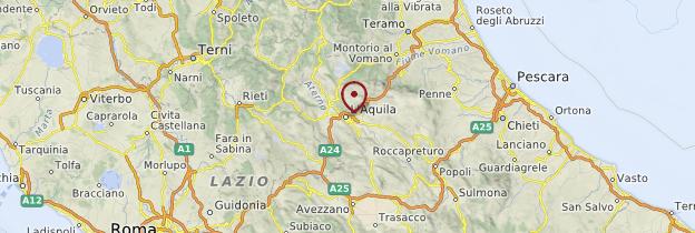 Carte Abruzzes - Italie