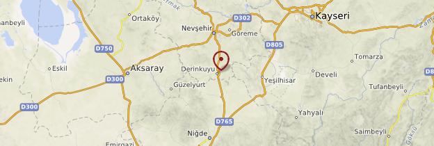Carte Derinkuyu - Turquie