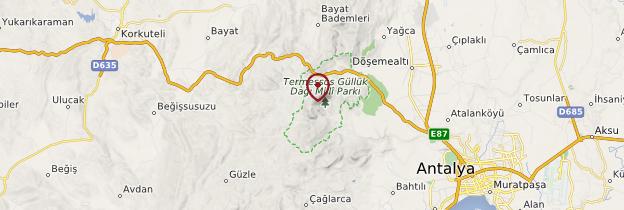 Carte Termessos - Turquie