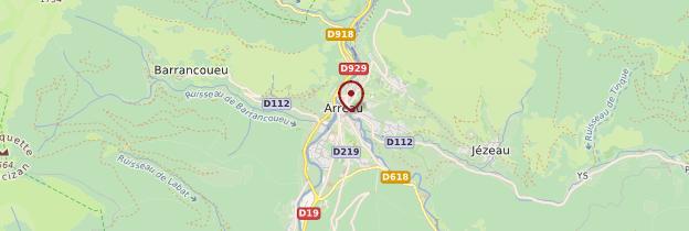 Carte Arreau - Midi toulousain - Occitanie