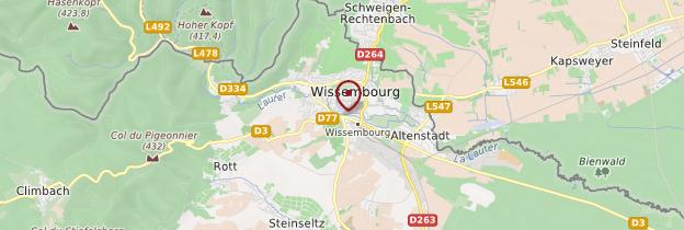 Carte Wissembourg - Alsace