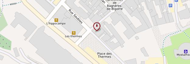 Carte Thermes de Bagnères - Midi toulousain - Occitanie