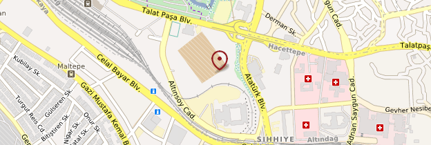 Carte Citadelle d'Ankara - Turquie