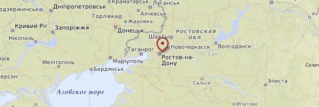 Carte Rostov-sur-le-Don - Russie