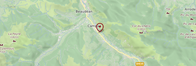 Carte Campan - Midi toulousain - Occitanie
