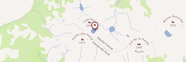 Carte Lac de Capitello - Corse