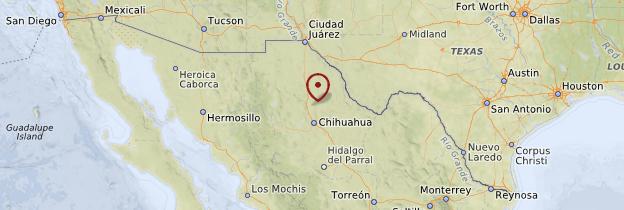 Carte Chihuahua, Sierra Madre et le Nord - Mexique