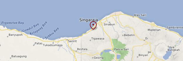 Carte Côte nord de Bali - Bali