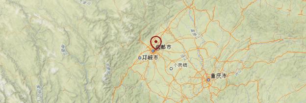 Carte Sichuan - Chine