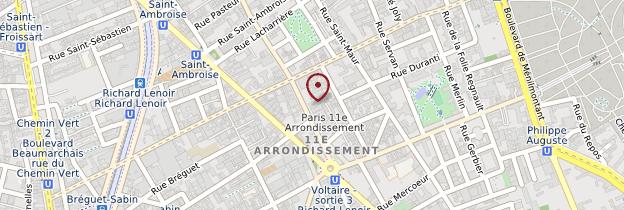 Carte 11ème arrondissement - Paris