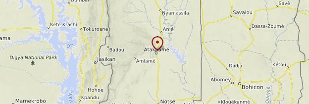 Carte Région des Plateaux - Togo