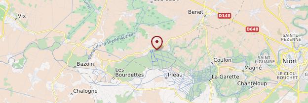 Carte Marais poitevin - Poitou, Charentes