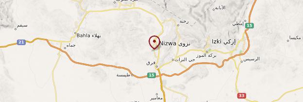 Carte Nizwa - Oman