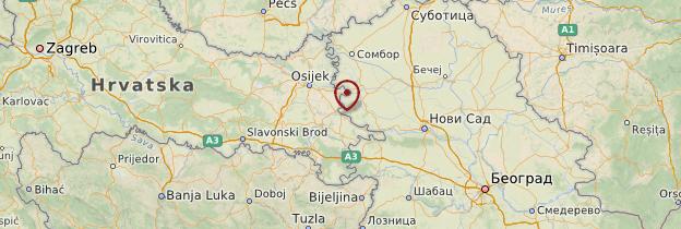 Carte Slavonie - Croatie
