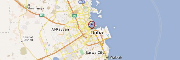 Carte Doha - Qatar
