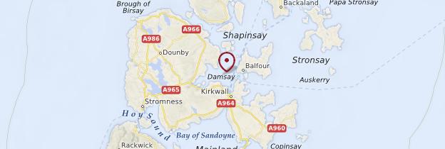 Carte Îles Orcades (Orkney Ilsands) - Écosse