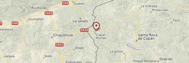 Carte Copán - Honduras