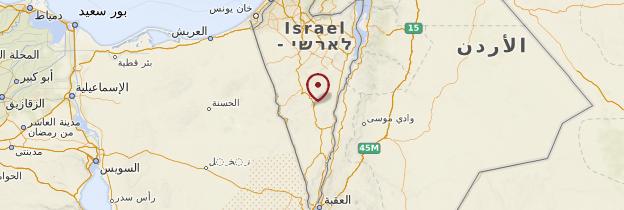 Carte Désert du Néguev - Israël, Palestine