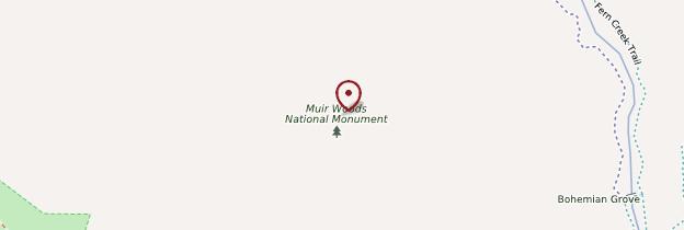 Carte Muir Woods National Monument - San Francisco