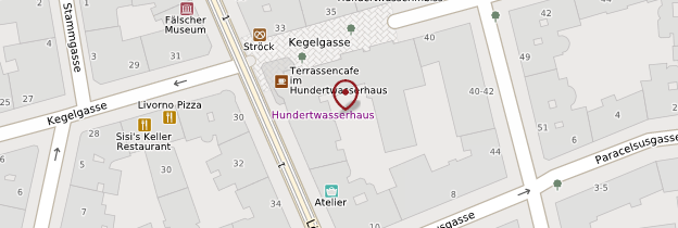 Carte Hundertwasserhaus (Maison de Hundertwasser) - Vienne