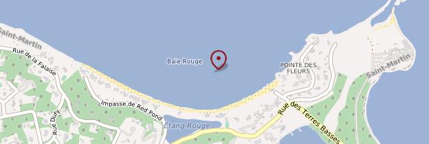 Carte Baie Rouge - Saint-Martin