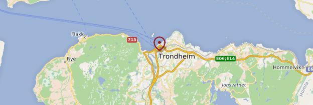 Carte Trondheim et environs - Norvège