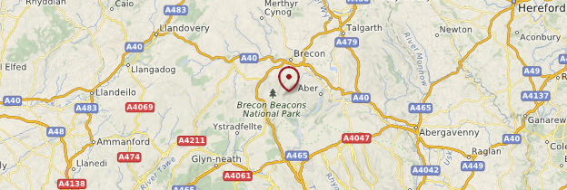 Carte Brecon Beacons National Park - Pays de Galles