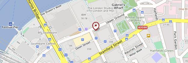 Carte South Bank - Vauxhall - Londres