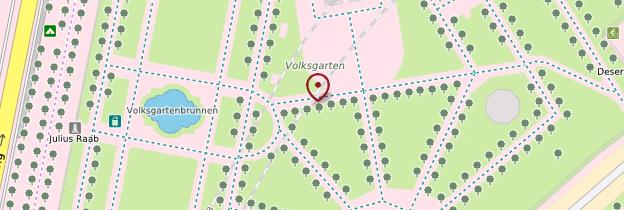 Carte Volksgarten - Vienne