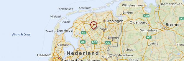 Carte Frise - Pays-Bas