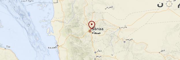 Carte Sanaa - Yémen