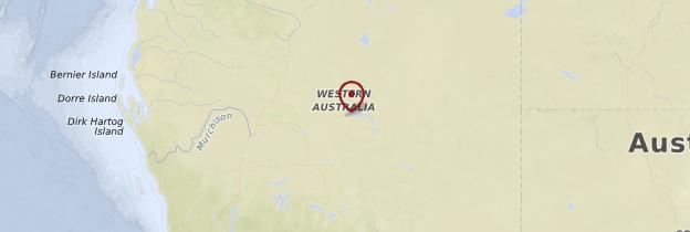Carte Western Australia (Australie-Occidentale) - Australie