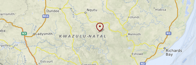 Carte Kwazulu-Natal - Afrique du Sud