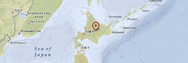 Carte Hokkaido - Japon