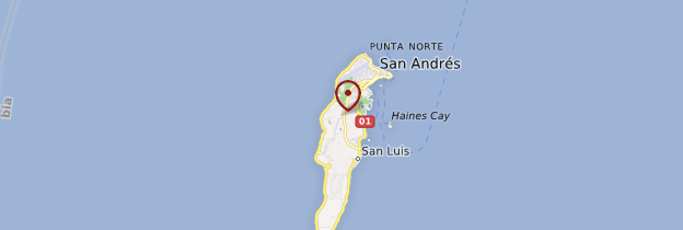 Carte Archipel de San Andrés - Colombie