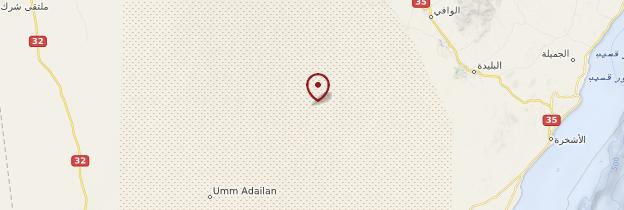 Carte Wahiba Sands - Oman