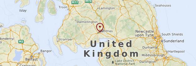 Carte Dumfries et Galloway - Écosse