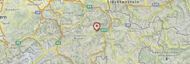Carte Grisons - Suisse