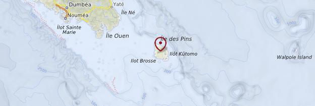 Carte Île des Pins - Nouvelle-Calédonie