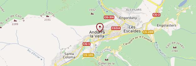 Carte Andorre-la-Vieille (Andorra La Vella) - Andorre