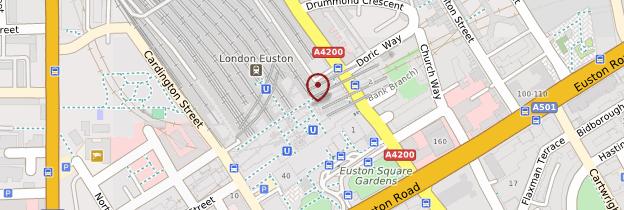 Carte Bloomsbury, King's Cross, Euston et Saint Pancras - Londres